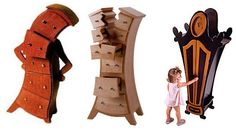 Posh Tots has a collection of whimsical furniture that looks like it was inspired by Dr. Seuss or Lewis Caroll.