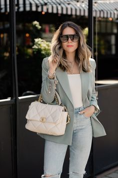 Classy Outfits, Trendy Outfits, Fashion Outfits, Womens Fashion, Chanel 19, Look Blazer, Beige Outfit, Style Challenge, Professional Outfits