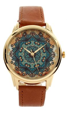 oh my gosh i want this!! Gold Pattern   Style Watch - Wristwatch / Cool Modern Retro Watches