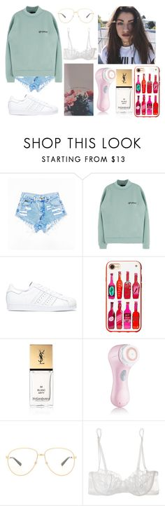 """""""this new you, this new dude, don't know him don't want to"""" by tbhbaylee ❤ liked on Polyvore featuring adidas, Kate Spade, Yves Saint Laurent, Clarisonic, Gucci and La Perla"""
