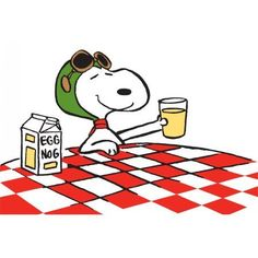 Marmont Hill Snoopy Ace Drink Peanuts Print on Canvas, Size: 18 inch x 12 inch, Multicolor