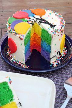 Rainbow Balloon Lemon Cake 4