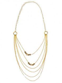 Női nyaklánc LUISA VANNINI JEWELRY - fekete-arany