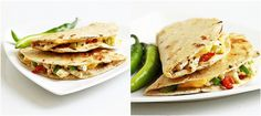 Cottage Cheese & Roasted Bell Pepper Quesadillas