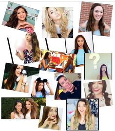My own collage with all my fave YouTubers! Maybaby, MyLifeAsEva, Alisha Marie, Niki and Gabi, SierraMarieMakeup, Bethany Mota, and MamaMiaMakeup.