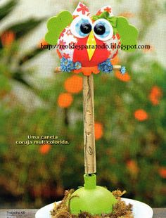Moldes para Todo: = Fofupluma Búho = Christmas Ornaments, Holiday Decor, Outdoor Decor, Home Decor, Owl Bird, Barn Owls, Jelly Beans, Hipster Stuff, Decoration Home