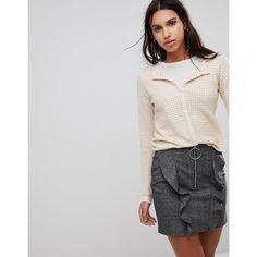 Mango Textured Jersey Cardigan ($49) ❤ liked on Polyvore featuring tops, cardigans, pink, mango cardigan, pink top, textured top, textured cardigan and jersey cardigan