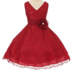 A holiday red lace flower girl dress. This dress is available in those hard to find plus sizes for girls. Sizes 14 - 20 can be matched to younger girls sizes 2 - Red Flower Girl Dresses, Lace Flower Girls, Girls Sizes, Plus Size Girls, Girls Designer Dresses, Girls Dresses, Girls Special Occasion Dresses, Affordable Dresses, Red Lace