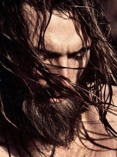 long hair, bearded...