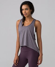 The lululemon Intended Tank was designed to layer over your bra during studio practice warm-ups, cool downs, and post-sweat patio hangouts.