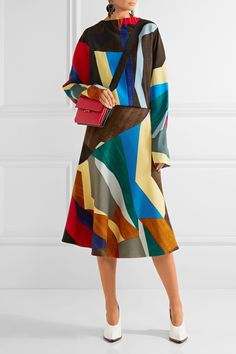Marni | Flared printed stretch-wool skirt | NET-A-PORTER.COM