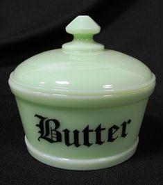 Butter dish – Jadeite