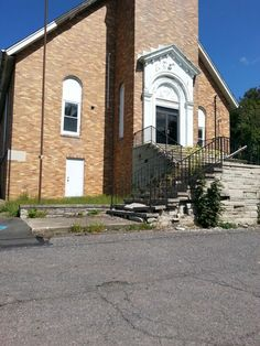 The front steps are crumbling. We are deciding what to do with them.