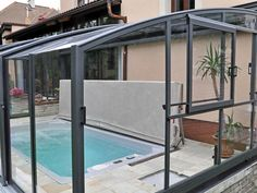Indoor Swim Spa the easy way with a retractable Lean To Conservatory