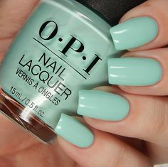 Summer 2018 Grease Collection OPI Was It All Just A Dream is a light turquoise creme.OPI Was It All Just A Dream is a light turquoise creme. French Nails, Opi Nail Colors, Color Nails, Gel Nagel Design, Vernis Semi Permanent, Luxury Nails, Opi Nails, Stiletto Nails, Nail Manicure