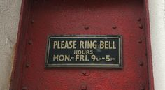 Sign Siren: Ring in the new year! Ring Bell, Signs, Shop Signs, Sign, Signage, Dishes