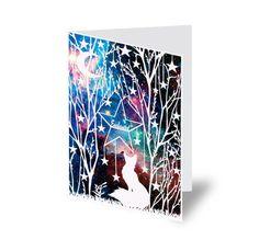 Fox Card - Woodland Animal Card - Personalised Card - Birthday Card - Papercut Illustration - Blank Cards