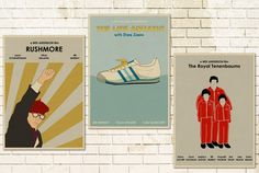 16x12 Wes Anderson set of 3 Movie Posters by MonsterGallery