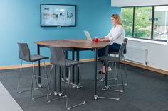 #Muzo Tall Kite folding tables. Create a space that promotes health and well-being with tall tables. Tall Kite is portable, folds and nests away.