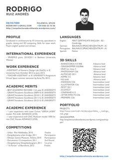 Image result for curriculum arquitetura curr culos e for Curriculum arquitecto