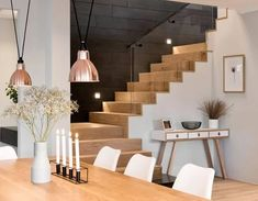 One of the most popular interior design for home is modern. The modern interior will make your home looks elegant and also amazing because of its natural material. If you want to design your home inte Escalier Design, Staircase Railings, Interior Railings, Wooden Decor, Farmhouse Kitchen Decor, Design Your Home, Minimalist Living, Home Living, Home Decor Styles