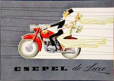 A hirdetőoszlop humoristái – vicces reklámplakátok az évekből Motorcycle, Mopeds, Humor, Scooters, Artist, Advertising, Poster, Illustrations, Swiss Guard
