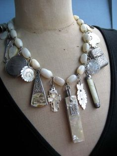 Mother of Pearl  A Vintage Vanity Item Statement by rebecca3030