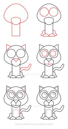 How to draw a wildcat