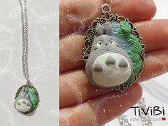 Totoro cameo necklace Studio Ghibli Miyazaki by tivibi.deviantart.com on @DeviantArt