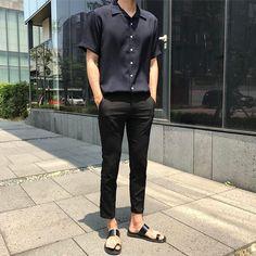 I love birkenstocks and flip flops ulzzang fashion, korean fashion men, best mens fashion Asian Men Fashion, Best Mens Fashion, Korean Street Fashion, Trendy Fashion, Stylish Mens Outfits, Casual Outfits, Style Casual, Men Casual, Ulzzang Fashion