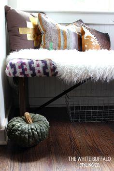 DIY Kilim Bench