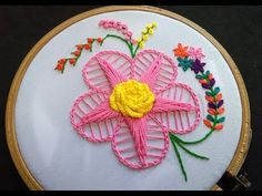 Hand Embroidery - Twisted Chain Stitch For Beginners Hello friends welcome to Crafty Creations. In this video we will show you how to sew twisted chain stitch, chain stitch, french knot, bullion knot and cast on stitch for beginners. Embroidery Hoop Crafts, Embroidery Hearts, Hand Embroidery Videos, Hand Embroidery Flowers, Machine Embroidery Projects, Learn Embroidery, Hand Embroidery Stitches, Embroidery For Beginners, Hand Embroidery Designs