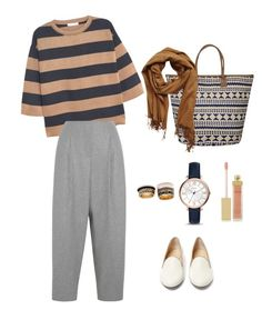 """""""#6"""" by hijab-inspired ❤ liked on Polyvore featuring MANGO, Acne Studios, Charlotte Olympia, VILA, FOSSIL, AERIN and Forever 21"""