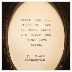 F Scott Fitzgerald Framed Love Quote Made On by farmnflea on Etsy, $23.00