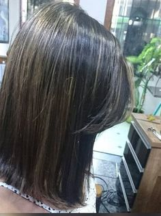 Perfect Long Bob Cut With Highlights
