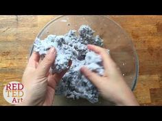 How to make paper clay from newspaper (paper clay recipe) - Mindy
