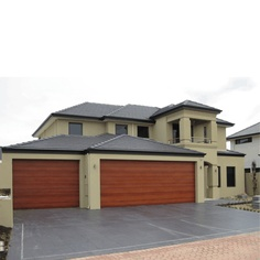 Colorbond and Timberlook Sectional Garage Doors Garage doors perth [] - - It's Free! Garage Door Repair, Garage Door Opener, Sectional Garage Doors, Perth, Restoration, Colours, Outdoor Decor, Lifestyle, Home Decor