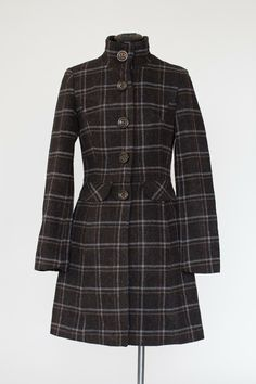 Plaid coat in black and blue via RmH SHOP. Click on the image to see more!