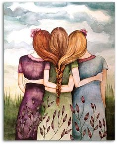 This reminds me of my two younger sisters, Di and Gill. We are miles apart, but never far away!