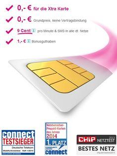 Telekom Aktion: Nur für kurze Zeit jetzt eine kostenlose Xtra Card Prepaid-Karte mit 1.- Euro Startguthaben abstauben.