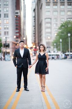 Chicago Streets, engagement session