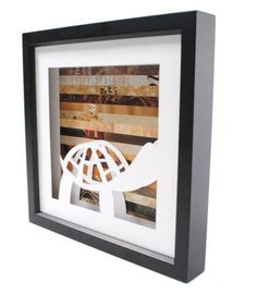 Custom Shadowbox Art Made from Recycled Materials by colorstory designs | Hatch.co