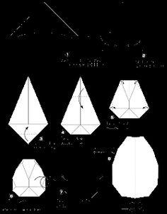 ARTE BUGIGANGA: Ovo - origami