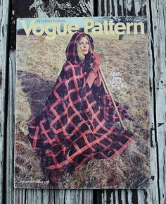 Vintage Vogue Pattern Book International Magazine August/September 1970 70s 1970s catalog
