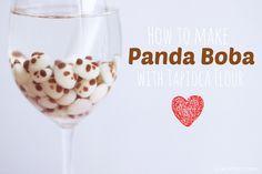 [Healthy Food for the Geeky Soul] Panda Tapioca Milk Tea with Panda Boba