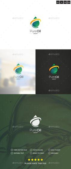 Oil Drop Logo  — PSD Template #oil #modern • Download ➝ https://graphicriver.net/item/oil-drop-logo/18396586?ref=pxcr