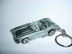 New 3D 1958 Chevrolet Corvette Custom Keychain keyring key