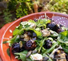 Roast Baby Aubergines with Rocket and Peppered Cream Cheese, and a Tahini Dressing | Scrumptious South Africa