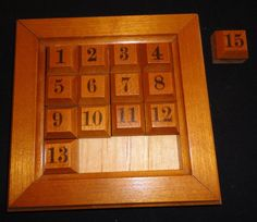 wooden sliding puzzle - Google Search