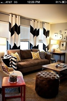 oh. my. goodness. chevron curtains
